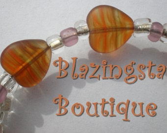 11 Hearts - Bracelet and Earrings Set