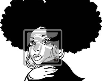 Focsi Lady with Afro Puffs 2 SVG