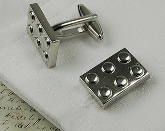 Premium Lego Cufflinks in a gift box