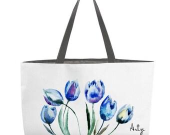Blue Tulips Weekender Tote