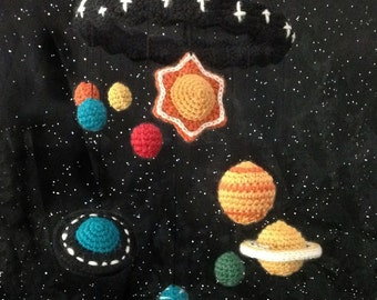 Crocheted Solar System Mobile Pattern PDF