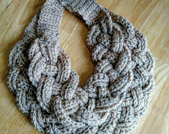 Ready to Ship Double Layer Crochet Braided Scarf