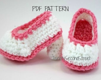 Crochet Baby Booties PDF PATTERN  for Baby High Heels