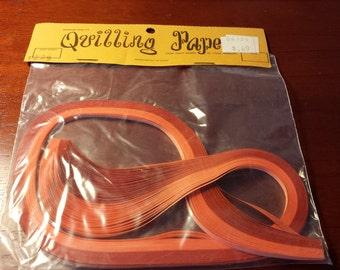 Vintage Craft Wagon orange quilling paper