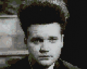 Eraserhead Henry Spencer Jack Nance portrait counted Cross Stitch Pattern