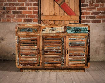 Reclaimed Wooden Roe Cabinet Large