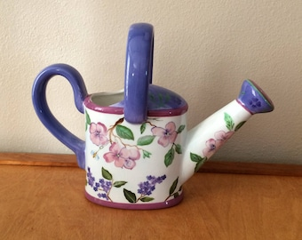 Hand Painted Ceramic Watering Can from Capriware