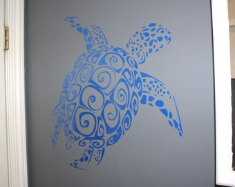 Sea turtle wall decal only