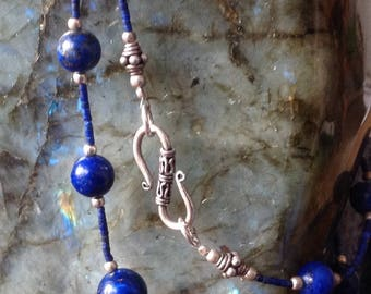 Lapis lazuli 925 sterling silver necklace