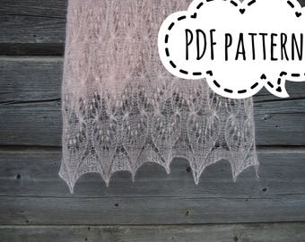 knit pattern PDF bridal stole, lace shawl, Bridal knit lace shawl, knit stole, Estonian lace shawl,PDF bridal wrap, wedding shawl pattern