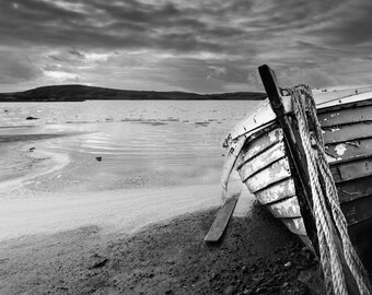 Scotland Photography | Shipwreck | Isle of Lewis Scotland | Black and White Scotland | Outer Hebrides Photography | Metal Print