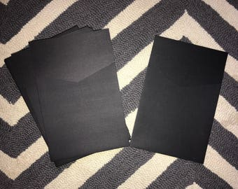 Black Linen 6x9 Pocket
