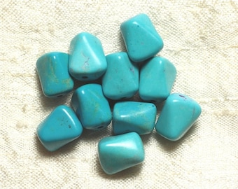 10pc - Pearl Turquoise Nuggets Turquoises12mm 4558550033499 synthesis
