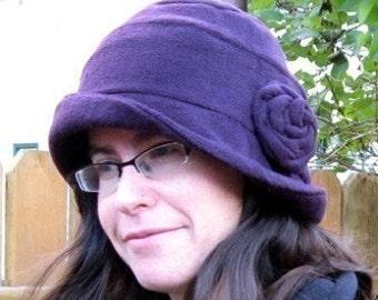 FLEECE Cloche hat SEWING PATTERN vintage style warm flapper 1920's style sewing hat pattern