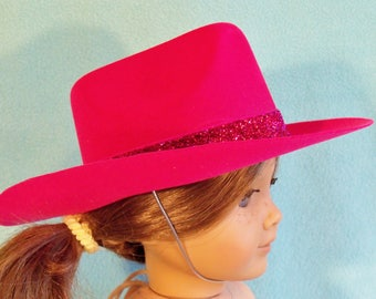 18 Inch Doll Dark Pink Cowgirl Hat