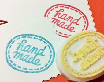 handmade rubber stamp | appliqué stamp | craft packaging stamp for makers | diy tag sticker | gift wrapping | hand carved by talktothesun