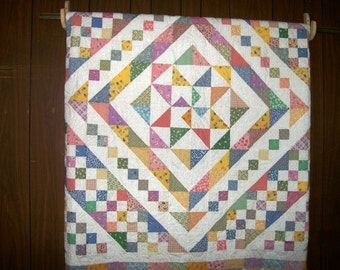 SALE, Buy 2/Get 1 Free -- CAROUSEL, pdf quilt pattern,  twin/full and queen size