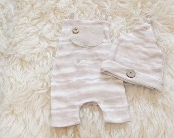 Eric, newborn overalls
