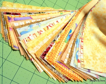Yellow Pre Cut Jelly Roll, 40 Pre-Cut Strips Some Duplicates, Sewing-Quilting-Craft Supplies,