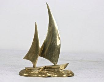 Brass Sailboat, Vintage Brass, Brass Home Decor, Sailboats