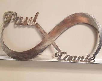Metal Signs Personalized, Infinity Sign, Wedding Gift, Anniversary Gift, Custom Infinity, Love sign, Metal Wedding Sign
