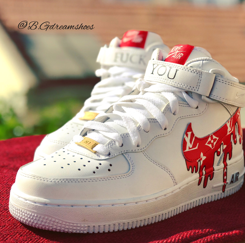 L'air froce 1 nike School | Old School nike customed chaussures | Chaussures suprêmes | Chaussures   a2f720