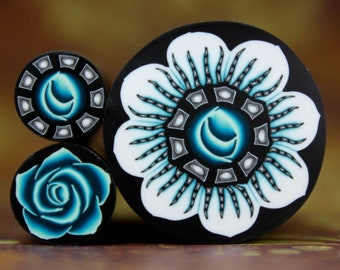 Set of 3 Polymer Clay Flower Canes (38aa)