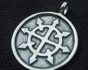 Chaos Star pendant (sterling silver)