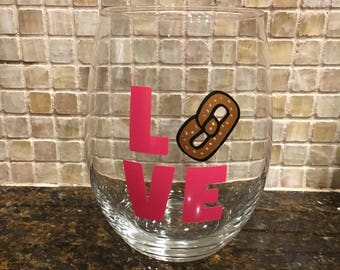 Love Wine Glass or Mason Jar - Customize