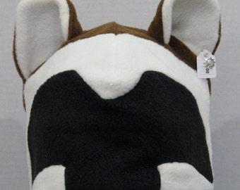 Wolverine Fleece Ear Hat - BLACK & BROWN