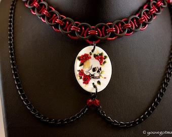 Helm Weave Skull Necklace
