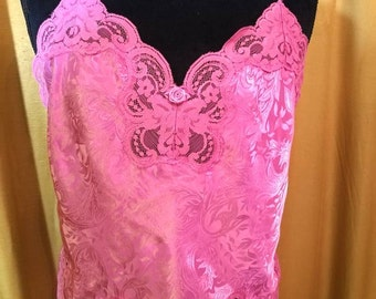 90s Pink Lace Camisole L