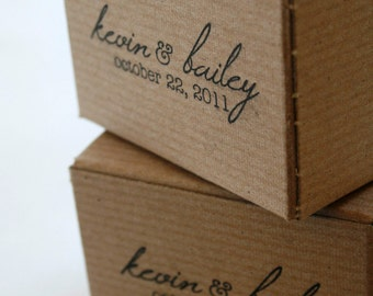 Brown Kraft Gift Boxes - set of 12 - Perfect with Twine or Deco Tape - Packaging - 6 x 6 x 6 Inches