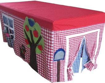 Table play house, playhouse, tablecloth play house, play tent, outdoor playhouse, indoor playhouse, birthday accessory, tablecloth house