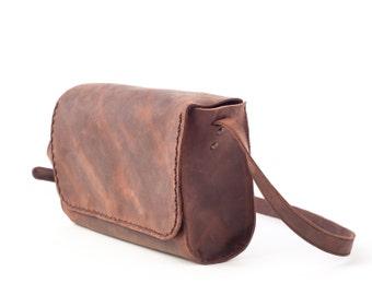 Full Grain Crossbody Bag, Small Purse, Messenger Crossbody Purse, Leather Crossbody Small Bag, Distressed Crossbody Bag, Crossbody Small