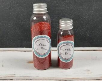 In Flaschen abgefüllt, deutsche Glas Rot Glitter-2 Unze oder 1 Unze Silber Glas Glitter für Handwerker, Collage, Papier Handwerk, ziemlich schäbig
