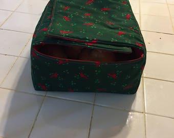 fabric bread warmer,cloth bread basket, microwave bread warmer