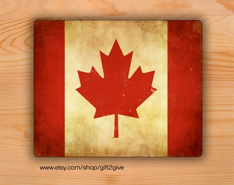 Mouse Pad Canadian Flag Grunge Mousepad