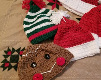 Christmas themed hats