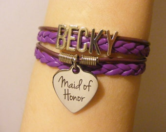 Maid of Honor bracelet, maid of honor jewelry, bridal bracelet, bridal jewelry, wedding party bracelet, wedding party jewelry