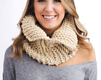 Knitting Pattern - Open Collar Cowl // Snowy Day Cowl