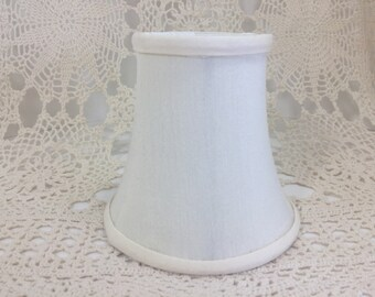 """Small Lamp Shade 4"""" /  Chandelier Shade / 4"""" Clip On Ivory White Lampshade"""