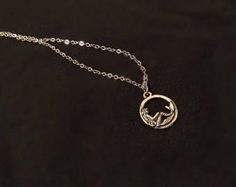Tiny Mermaid Circle Necklace
