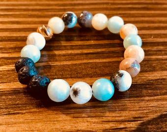 Diffuser Bracelets with Lava Stones
