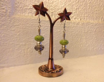 Duo beads earrings
