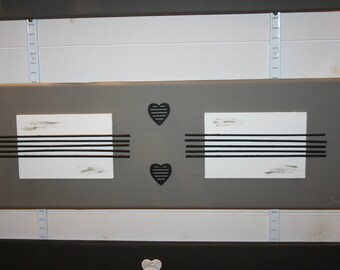 modern painting, hearts, taupe, black and white zen