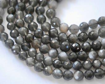 1/2 strand grey moonstone round beads