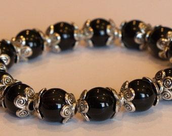 Swarovski pearl stretch bracelet
