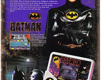 "Tiger Electronics Batman Hand Held Game 10"" X 7"" Reproduction Metal Sign G46"