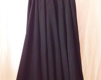 Skirt vintage, black, very wide, forever, T 38.
